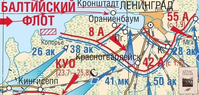 7 сентября 1941 года возник Ораниенбаумский плацдарм (65х25 км), его наши войска удерживали до перехода в наступление в 1944