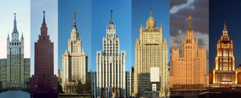 7 сентября 1947 года в честь 800-летия столицы одновременно были заложены 8 сталинских высоток