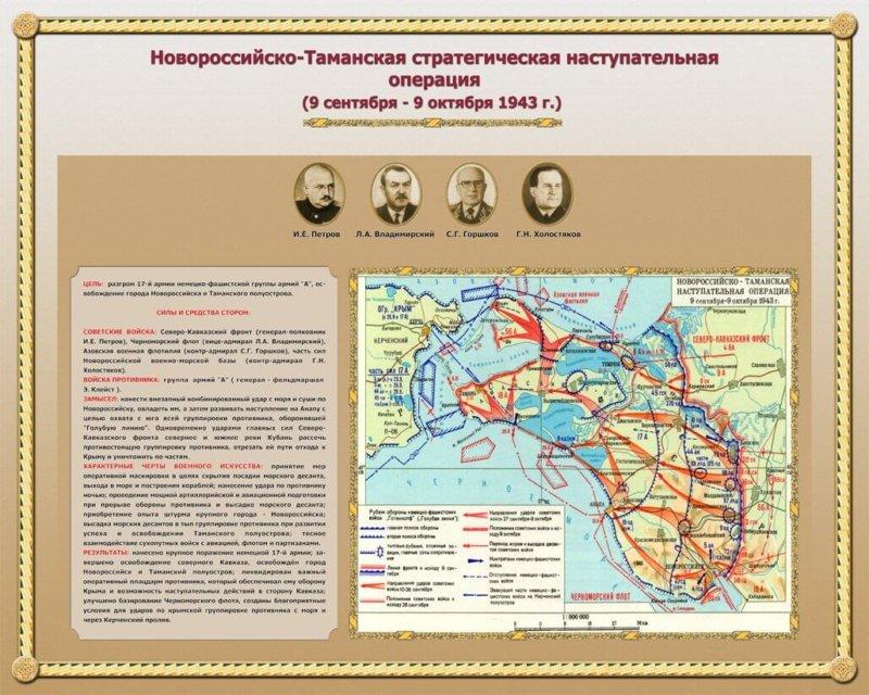 9 сентября 1943 года во время Великой Отечественной войны началась Новороссийско-Таманская наступательная операция