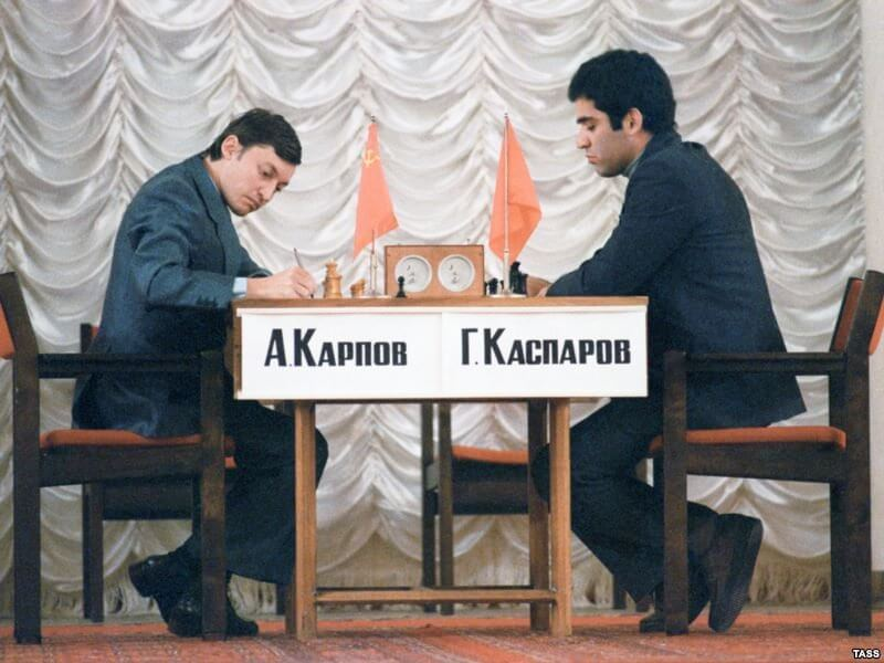9 сентября 1984 года в Москве в Колонном зале Дома союзов начался матч на первенство мира по шахматам между чемпионом мира Анатолием Карповым и победителем соревнования претендентов Гарри Каспаровым
