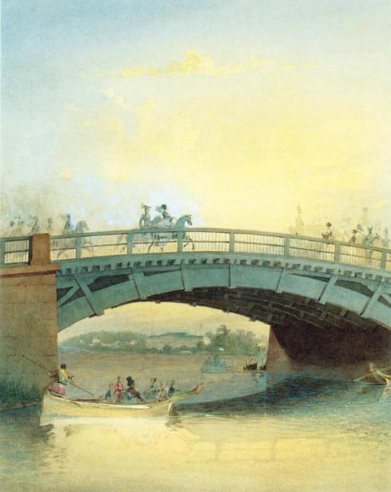 Каменноостровский мост в 1830-е годы
