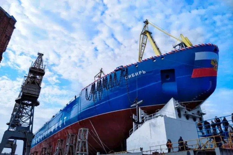 Спущен на воду мощнейший в мире ледокол «Сибирь»