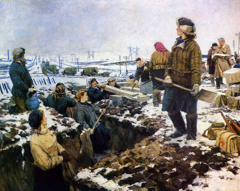 12 октября 1941 года ГКО принял постановление об ускорении строительства третьей линии оборонительных сооружений на ближних подступах к Москве