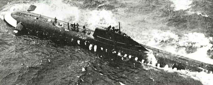 13 октября 1960 года на атомной подводной лодке K-8, произошла авария