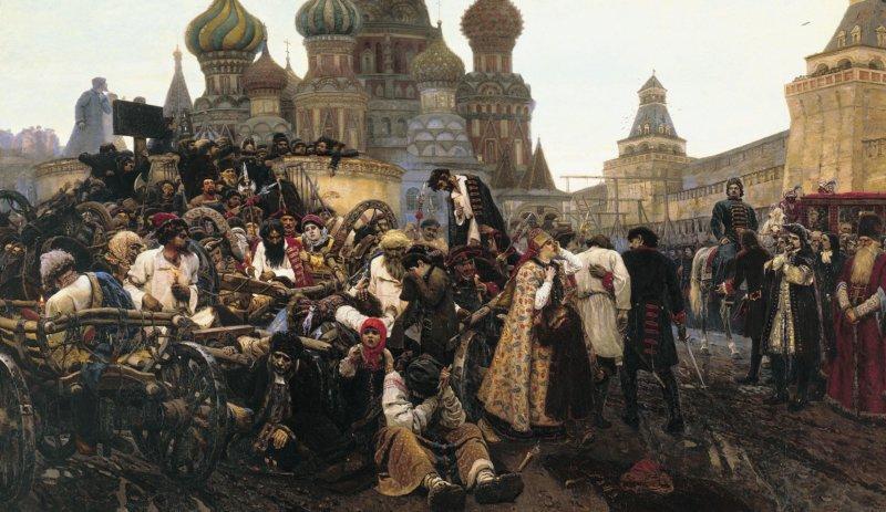 1698 - У Кремля в Москве казнено около 300 стрельцов
