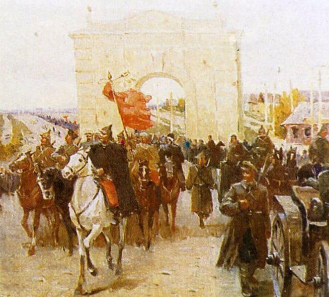 Части РККА входят в Орёл (20 октября 1919 года)